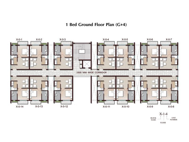1 bhk apartment in joka g 4 plan ground floor for 4 bhk plan layout